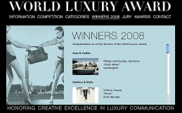 WORLD LUXURY AWARD, INSIGNO Srl  won for Renato Zacchia finalist